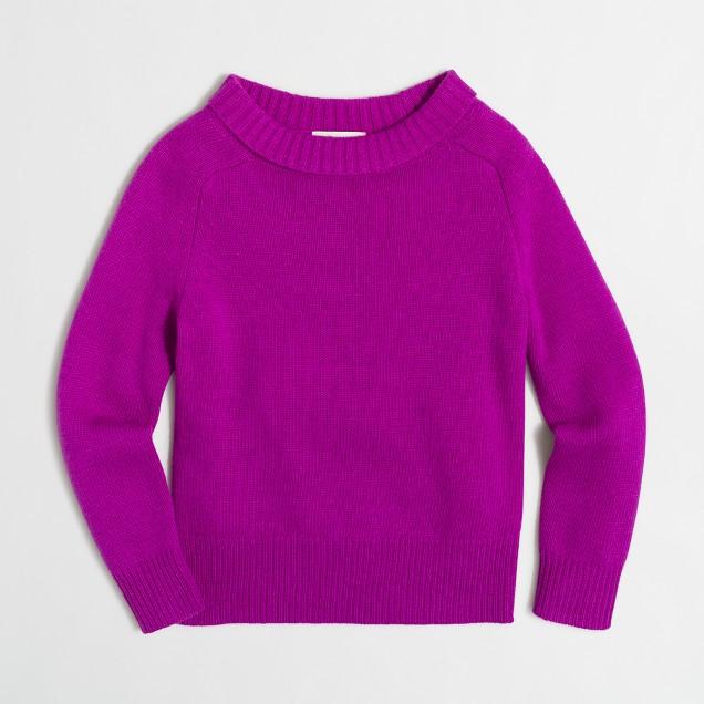 Girls' foldover sweater
