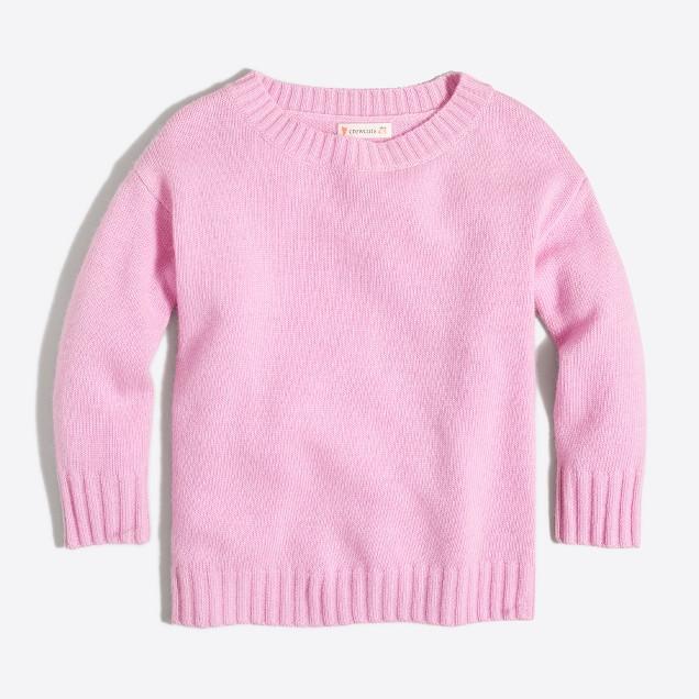 Girls' knit sweater tunic