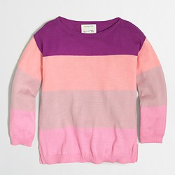 Factory girls' striped sweater
