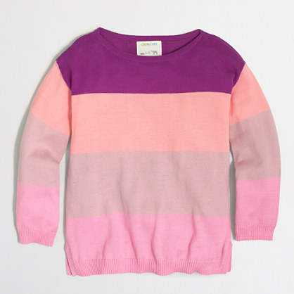 Girls' striped sweater