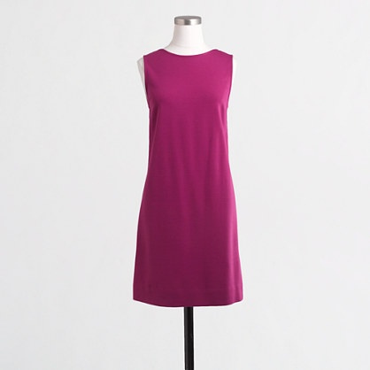 V-back ponte shift dress
