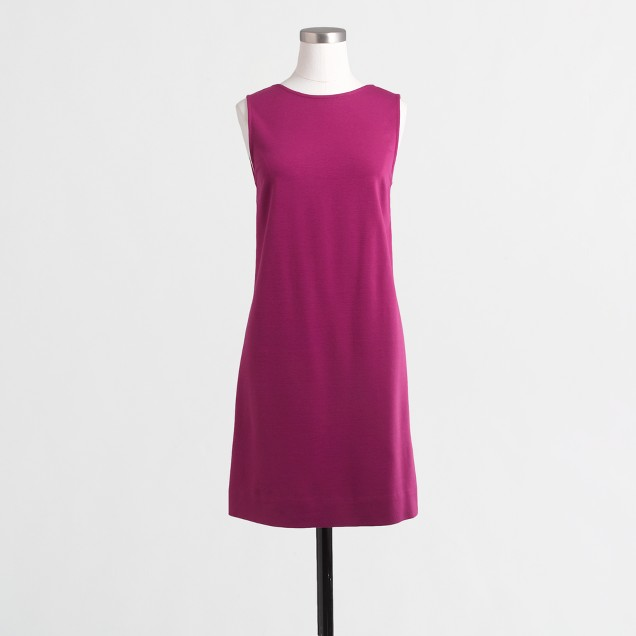 V-back ponte shift dress