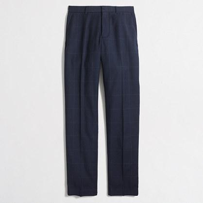 Slim Thompson suit pant in windowpane wool flannel