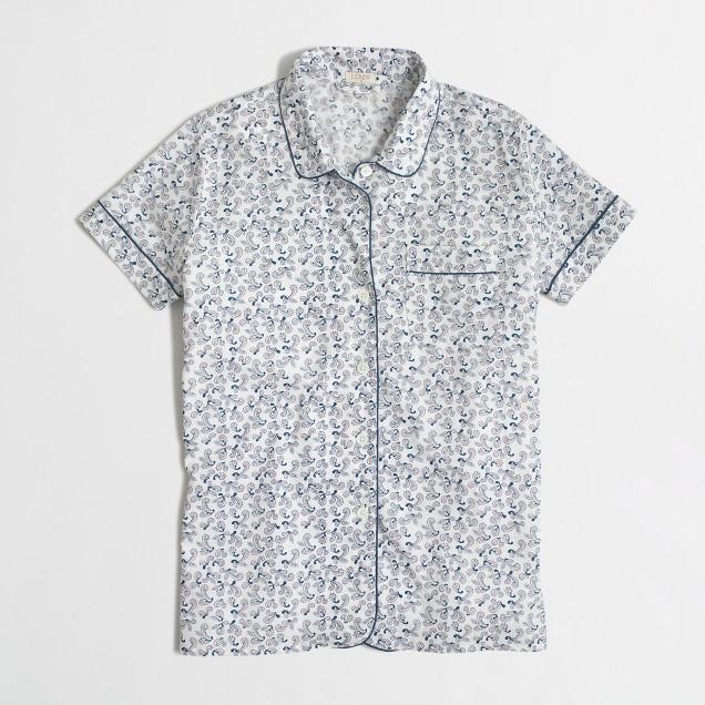 Paisley pajama shirt