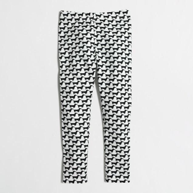 Girls' leggings in dachshund print