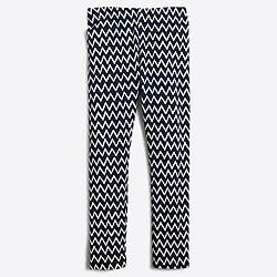 Girls' leggings in chevron stripes