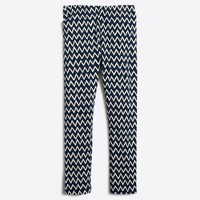 Girls' leggings in chevron stripes