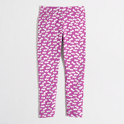 Girls' leggings in foil hearts