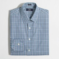 Wrinkle-free Voyager dress shirt in multi-plaid