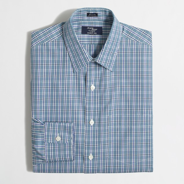 Wrinkle-free Voyager dress shirt in multi-plaid