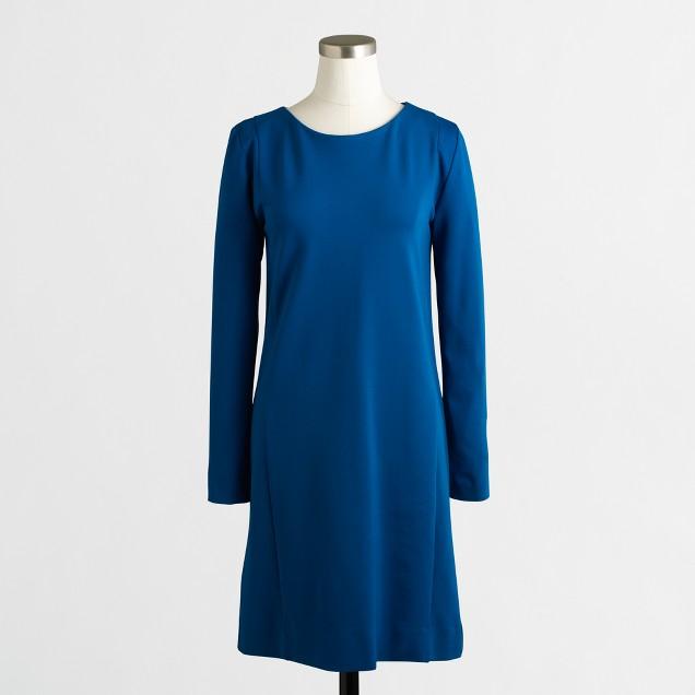 Seamed ponte dress