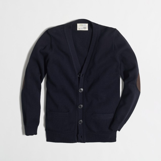 Boys' elbow-patch cardigan sweater