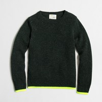 Boys' neon-tipped Donegal sweater
