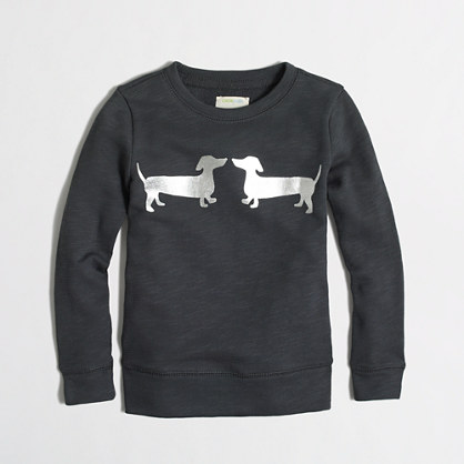 Girls' puppy love sweatshirt