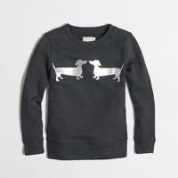 Girls' puppy love sweatshirt