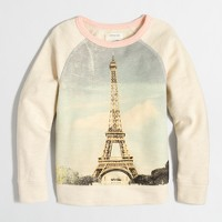 Girls' Eiffel Tower sweatshirt