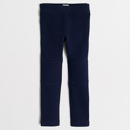 Girls' toasty leggings with knee patch