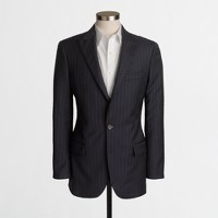 Thompson peak-lapel suit jacket in pinstripe