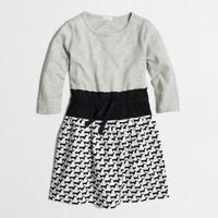 Girls' mixed-media dress
