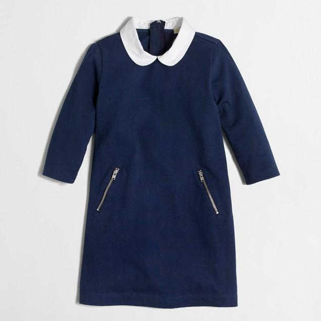 Girls' collared dress