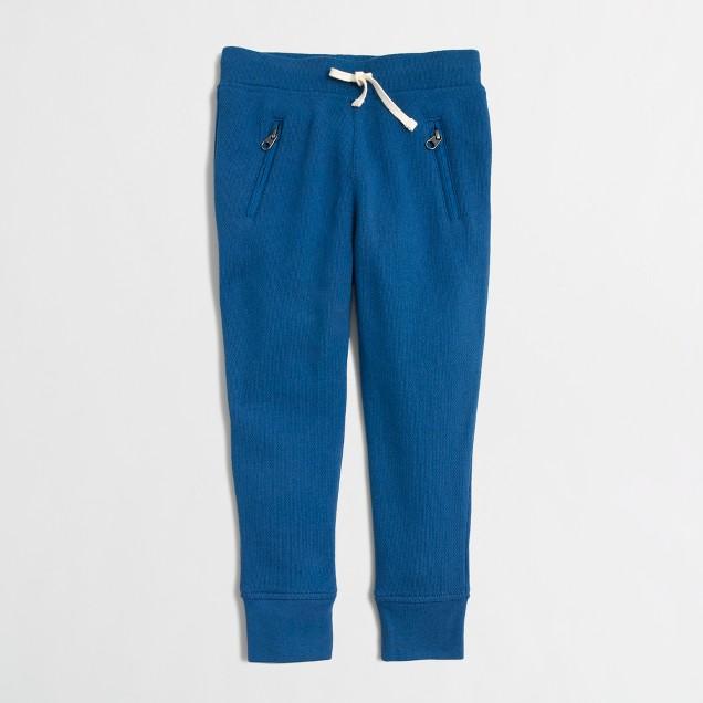 Girls' skinny zip sweatpant