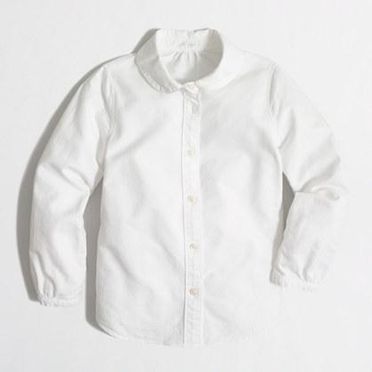 Girls' oxford Peter Pan collar shirt