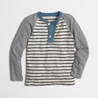 Boys' striped baseball henley