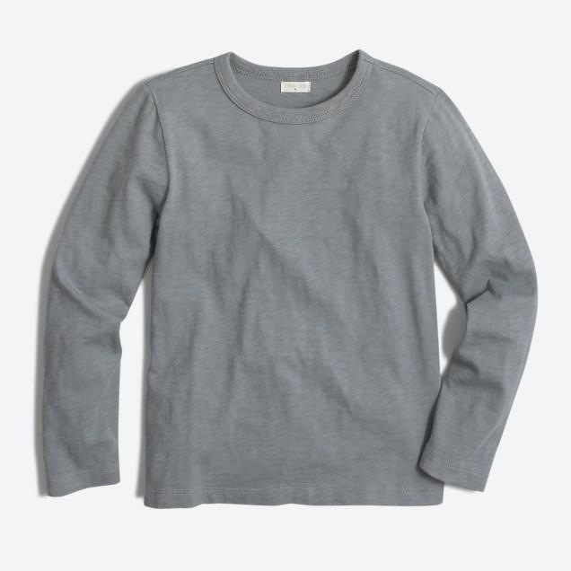 Boys' long-sleeve slub T-shirt