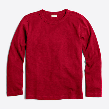 Boys' long-sleeve slub T-shirt