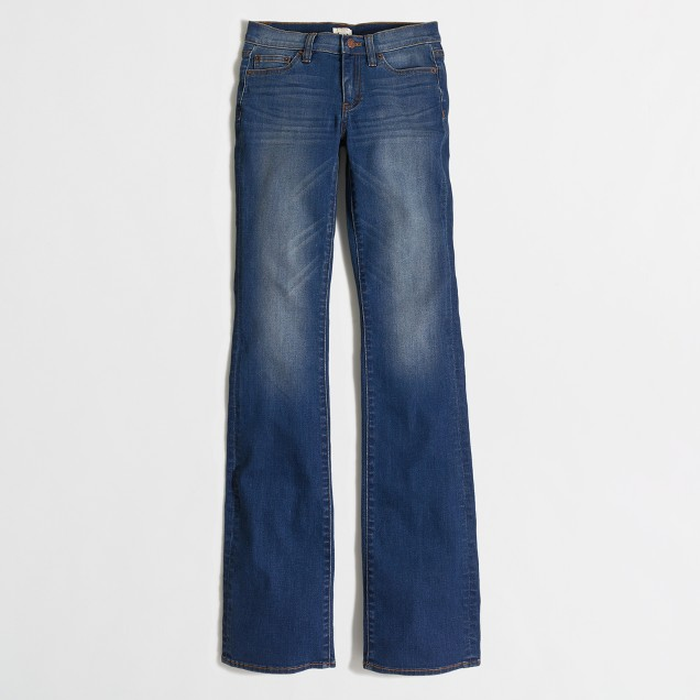 Medium blue wash bootcut jean