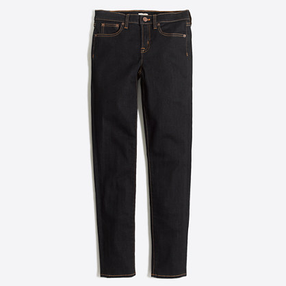 "Rinse wash midrise skinny jean with 28"" inseam"