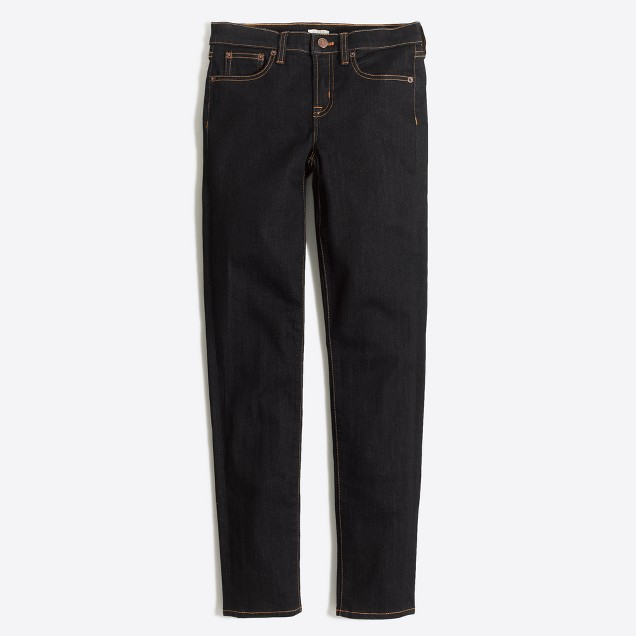 "Rinse wash midrise skinny jean with 26"" inseam"