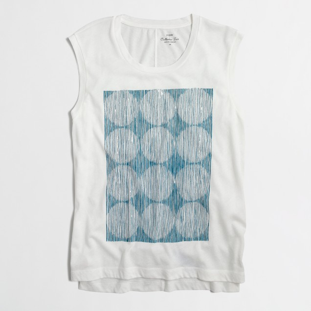 Sketched circles tank top