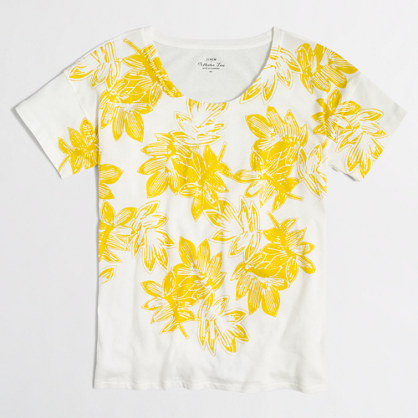 Floral collector T-shirt in airy cotton