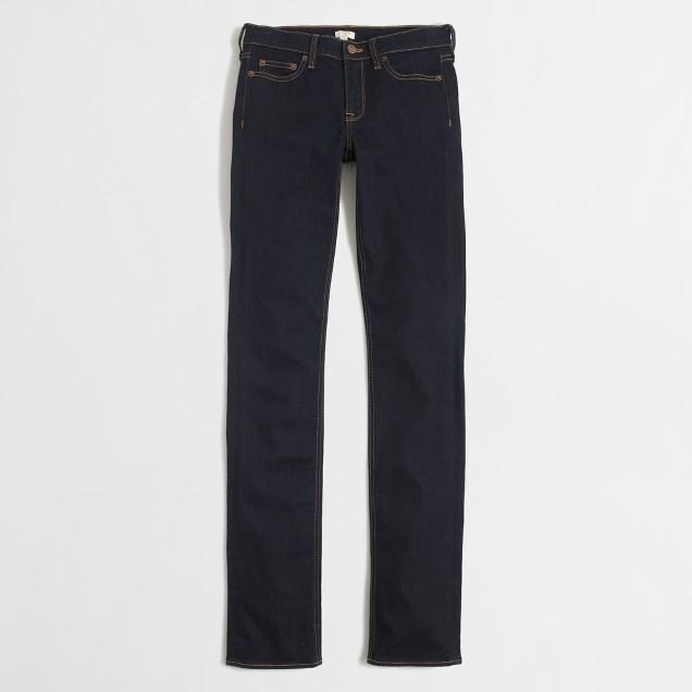 Rinse wash straight and narrow jean