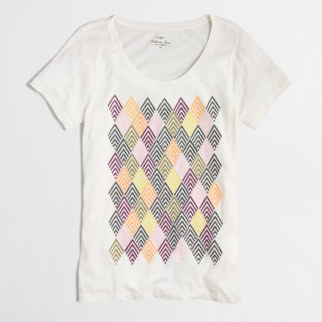 Stacked diamonds collector T-shirt in airy cotton