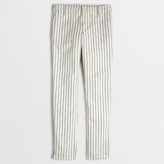 Striped utility pant
