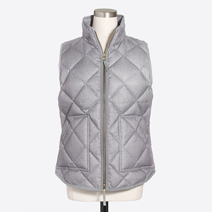 Textured quilted puffer vest
