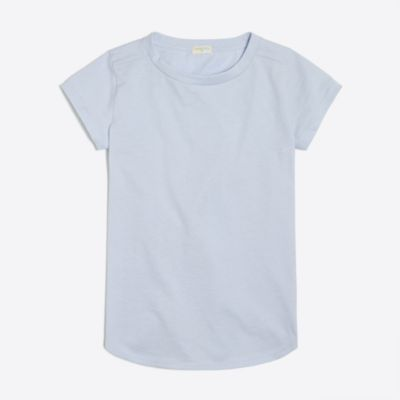 Girls' shirttail-hem T-shirt factorygirls made-for-play basics under $25 c