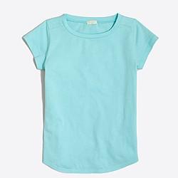 Girls' shirttail-hem T-shirt