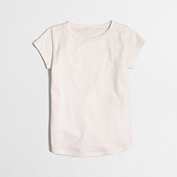 Factory girls' shirttail-hem T-shirt