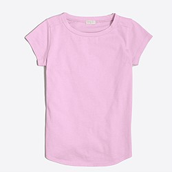 Girls' shirttail-hem T-shirt