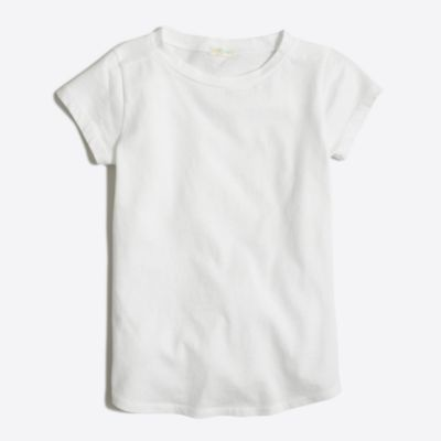 Girls' shirttail-hem T-shirt factorygirls shirts, t-shirts & tops c