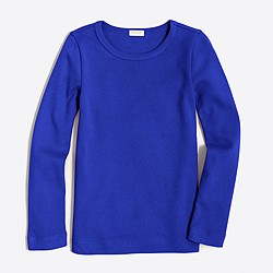 Girls' long-sleeve layering T-shirt