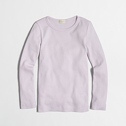 Factory girls' long-sleeve layering T-shirt