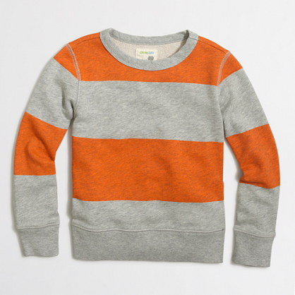 Boys' block-striped sweatshirt