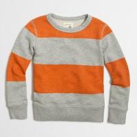 Boys' block-striped sweatshirt