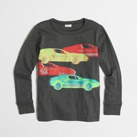 Boys' long-sleeve glow-in-the-dark cars storybook T-shirt