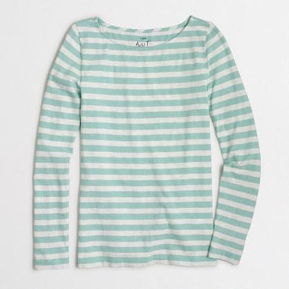 Striped long-sleeve artist T-shirt