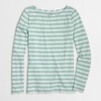Striped long-sleeve artist T-shirt